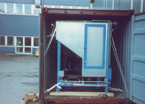 Tying down equipment /machinery in containers